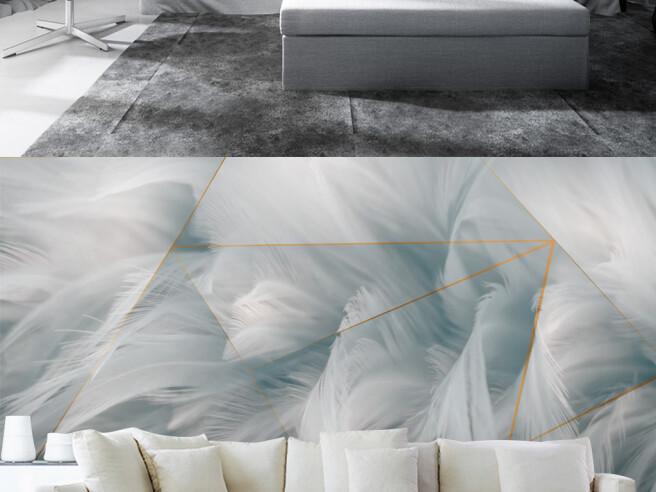 Фотообои Волны из перьев