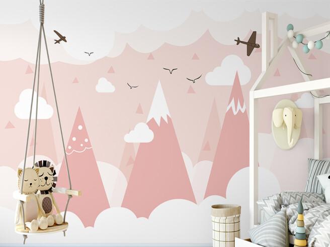 Фотообои Острые розовые горы