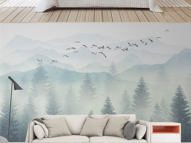Чайки над лесом