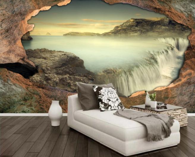 водопад в скале