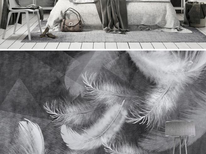 Фотообои Падающие перья
