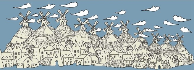 Мельницы на холмах