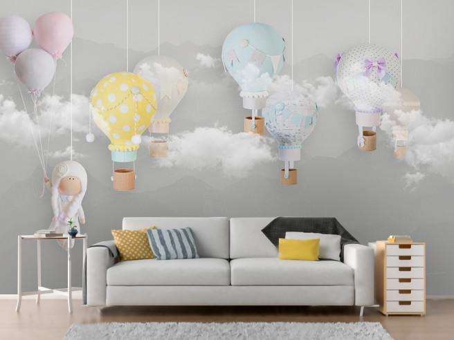 Фотообои Шары в облаках