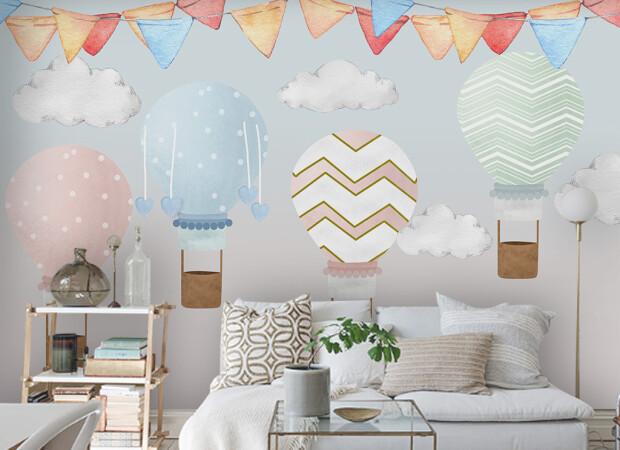 Полосатые воздушные шары