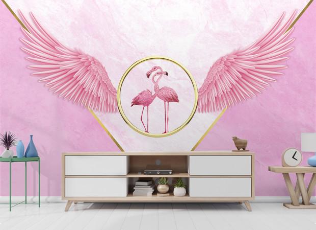 Фламинго в цолом кольце