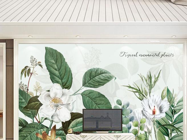 Фотообои Тропические декоративные растения