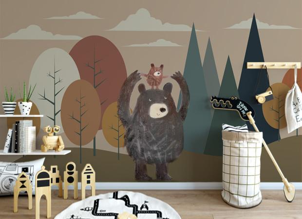 Медведь с медвеженком