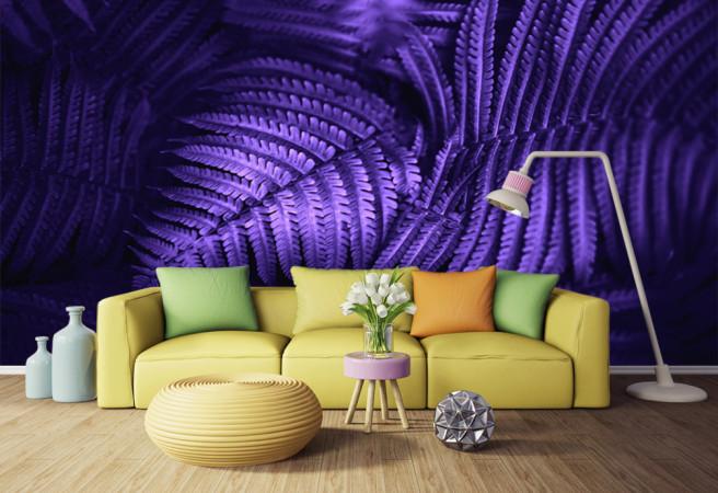 Фотообои фиолетовый папоротник