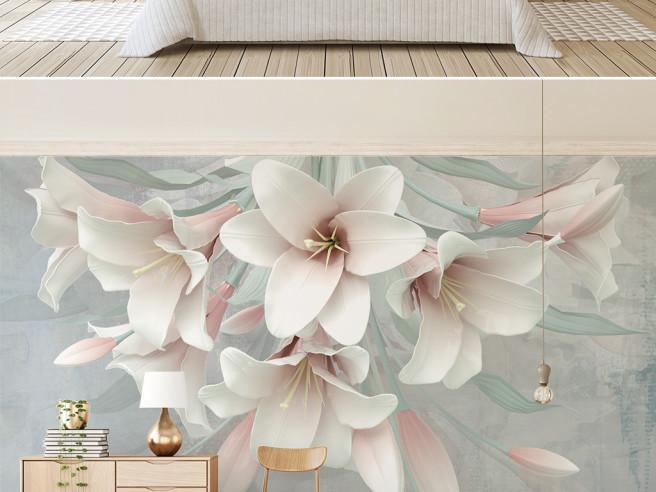 Фотообои розовые цветки