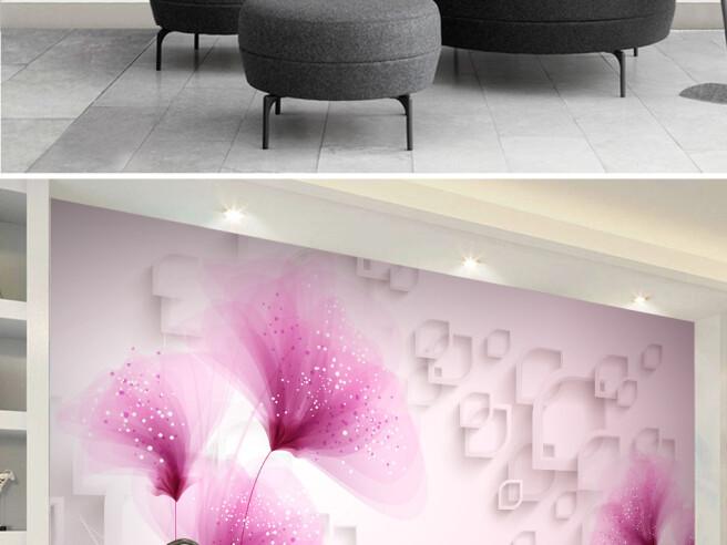 Тонкие розовые цветы