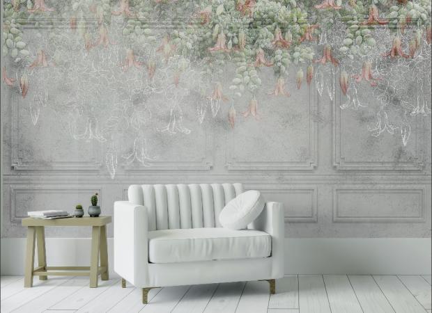 гипсовые панели с цветами