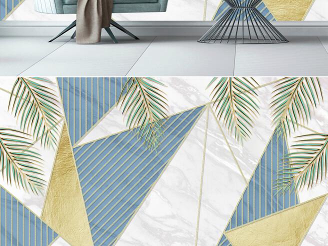 Фотообои Треугольники и листья пальм