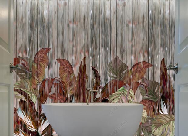 Листья на девенянной текстуре