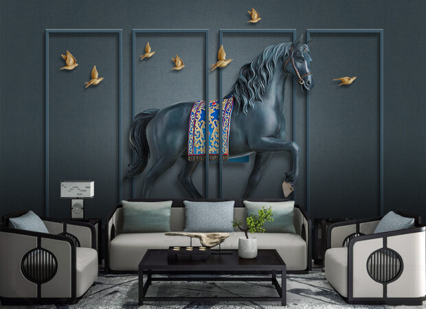Металлический конь