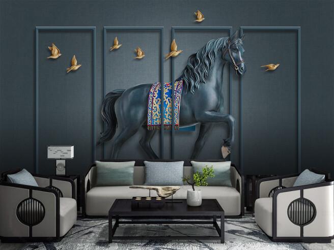 Фотообои Металлический конь