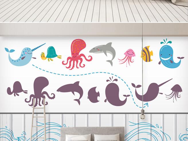 Фотообои Рисунки морских животных