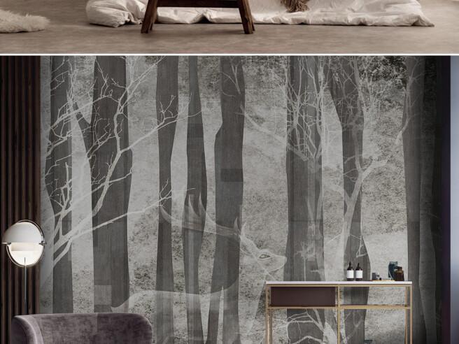 Фотообои Призрак оленя в лесу