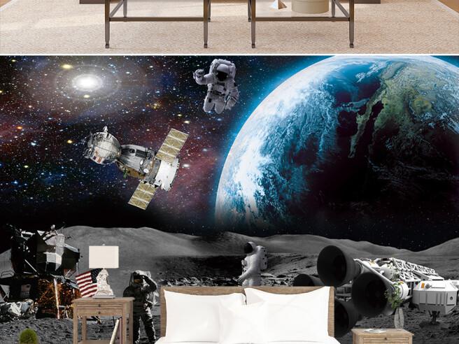 Фотообои Спутник на орбите Земли