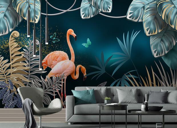 Два фламинго вечером