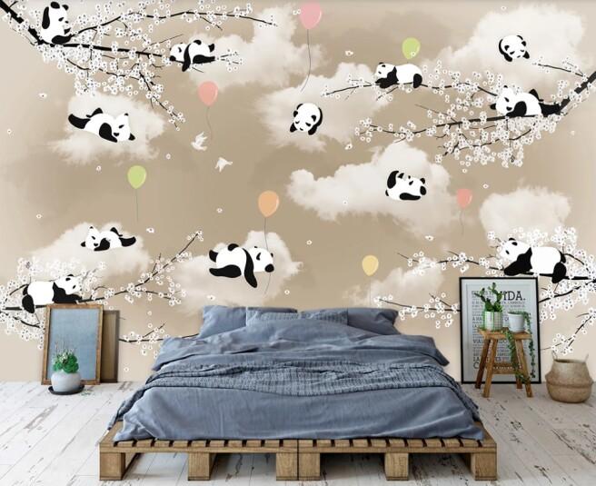 панды на облачках