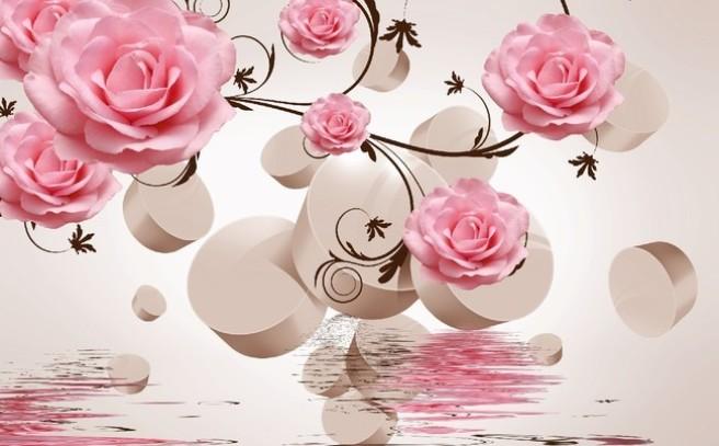 Чайная роза в окне
