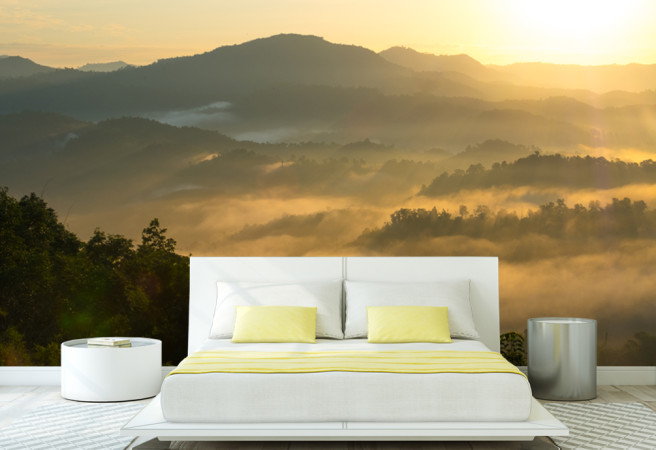 Фотообои туман в горах