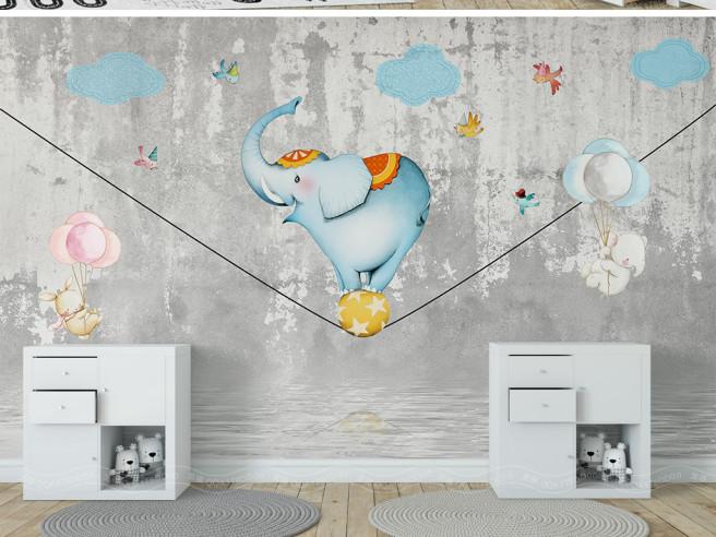Слон — канатоходец