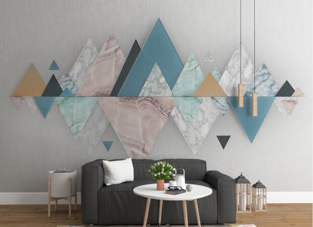 Отражение треугольных гор