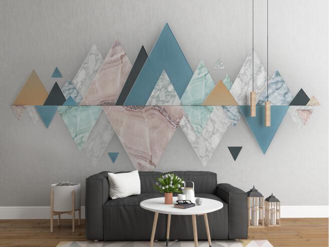 Фотообои Отражение треугольных гор