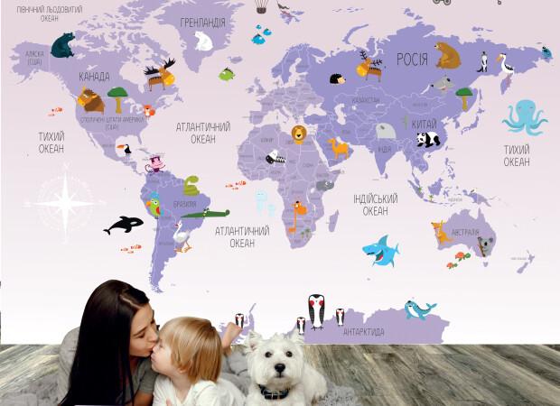 фиолетовая карта на украинском языке