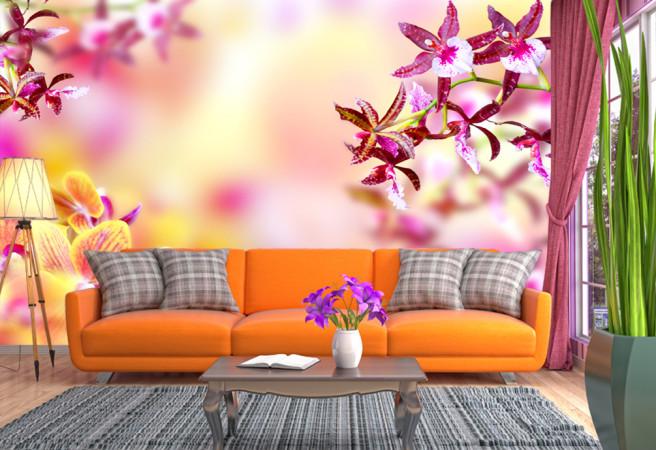 Фотообои Прозрачность и цветы