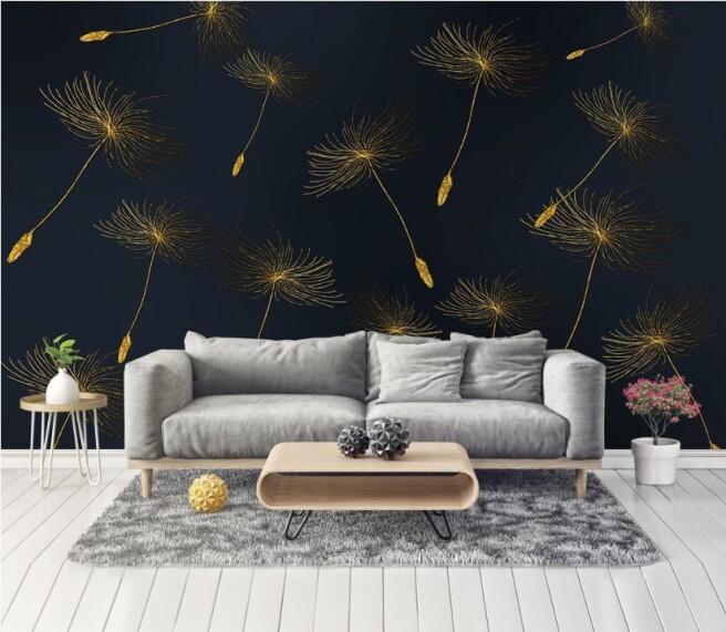 Фотообои Золотые зонтики цветка