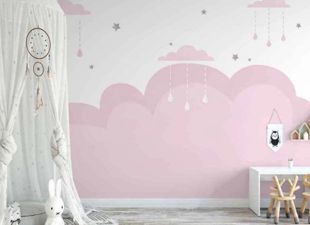 розовые облачка и звездочки
