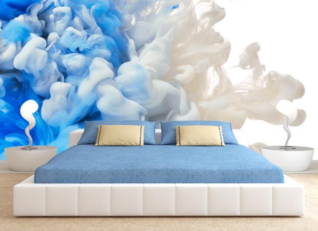 Бело-синий дым