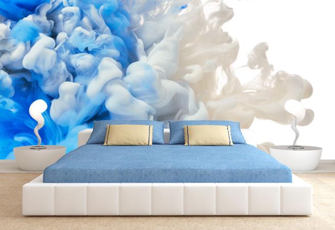 Фотообои Бело-синий дым