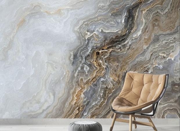 мраморная стена с дизайном