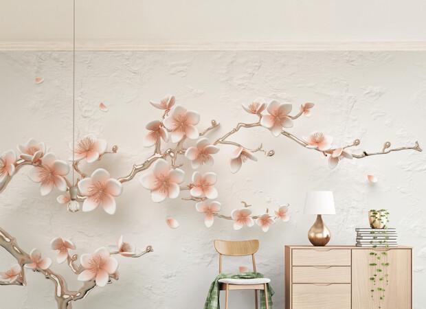 Пастельная веточка цветов
