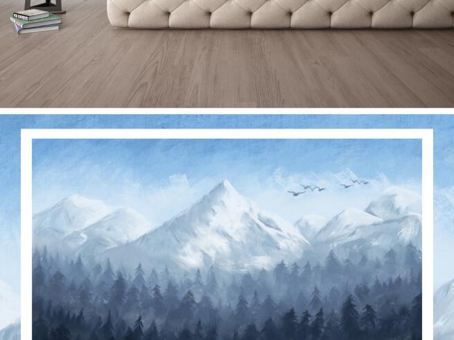 Фотообои Высокая гора