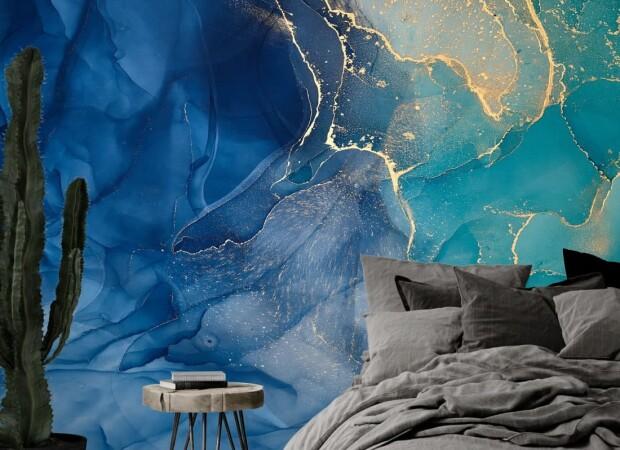сине-голубое золото