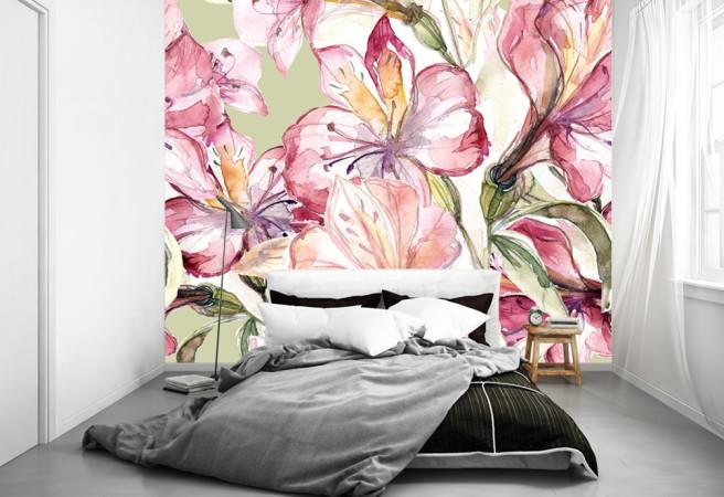 Фотообои цветочный арт