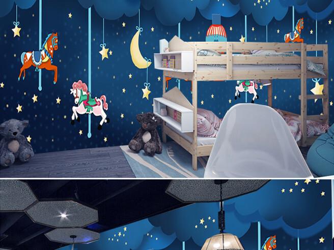 Фотообои Ночная карусель