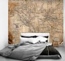 Карта в спальне