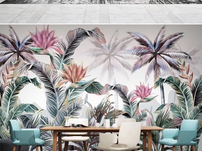 Разноцветные пальмы