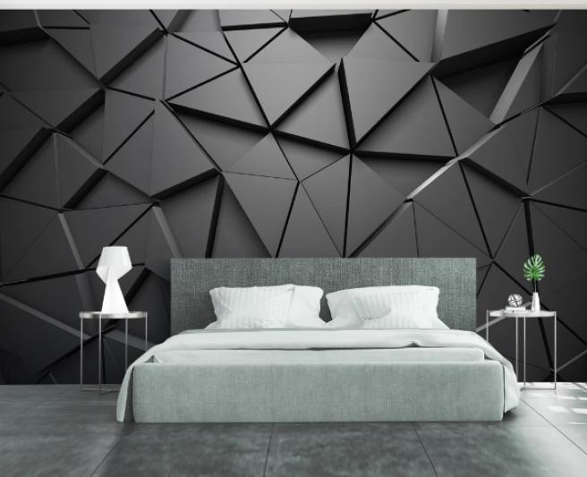 Фотообои черные треугольники
