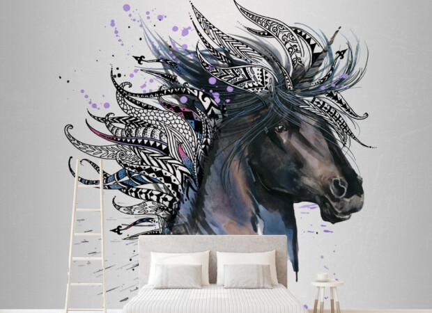 Лошадь с перьями