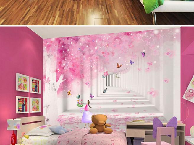 Фотообои Тунель и розовое дерево