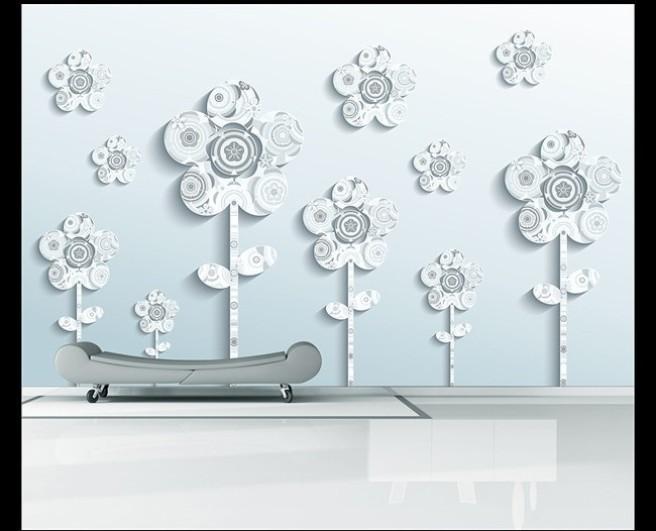 Цветы из белых узоров
