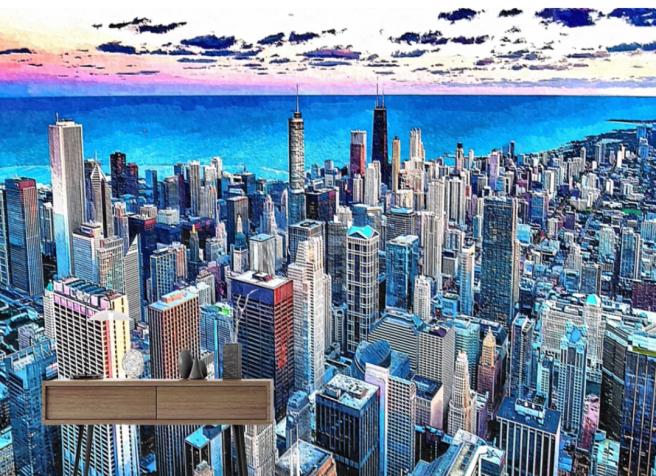 Фотообои городской закат