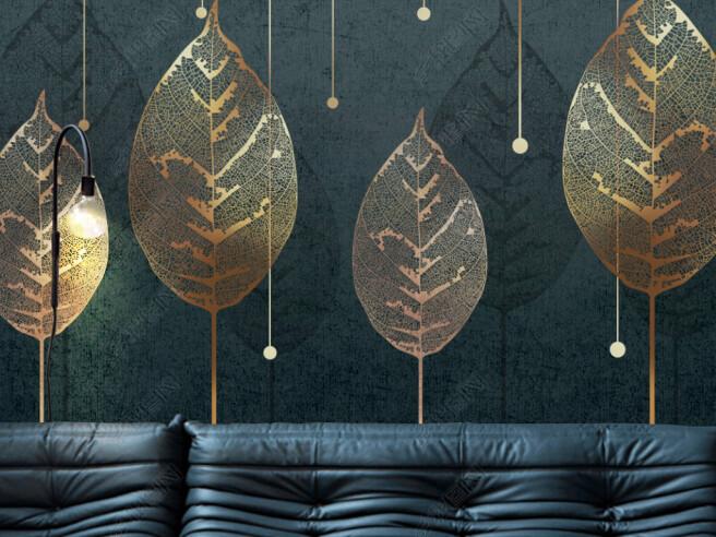 Фотообои Листья тополя