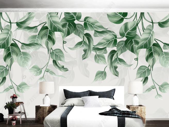 Фотообои Листья-сердечки